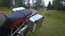 Kufry pro originál BMW R1200GS nosič + NOVÉ ZÁMKY